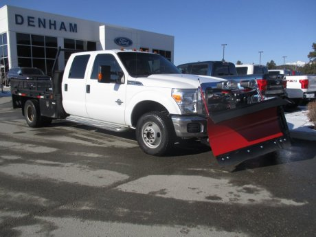 2015 Ford Super Duty F-350 DRW XLT SuperCrew 4X4 w/ Snowplow and Deck!